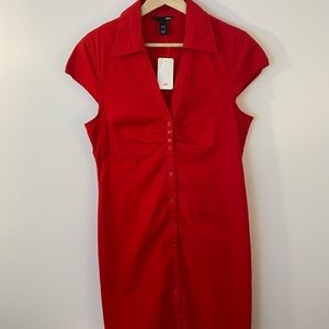 H&M Red Shirt Dress